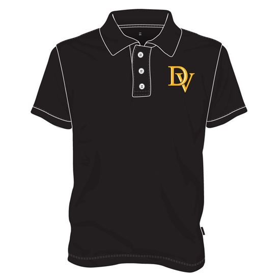 Picture of Polo Shirt with Buttons (Black)