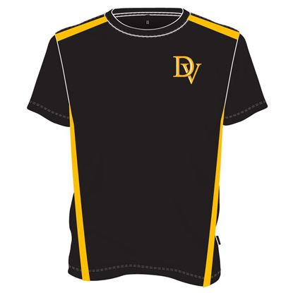 Picture of Two-tone round neck T-shirt (Black/yellow)